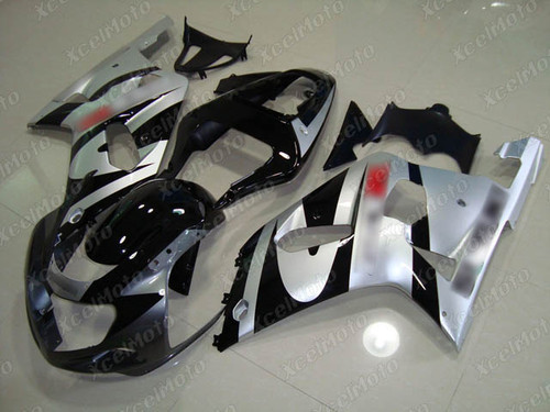 2001 to 2003 Suzuki GSX-R600, 2000 to 2003 Suzuki GSX-R750 grey black and silver fairing