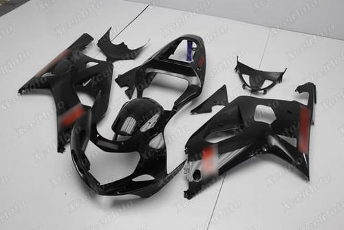 2001 to 2003 Suzuki GSX-R600, 2000 to 2003 Suzuki GSX-R750 gloss black fairing