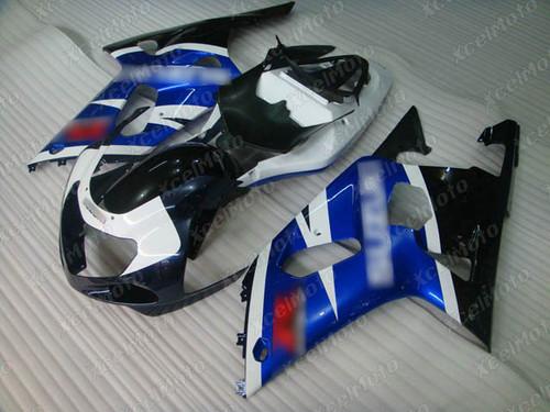 2001 to 2003 Suzuki GSX-R600, 2000 to 2003 Suzuki GSX-R750 blue white and black fairing