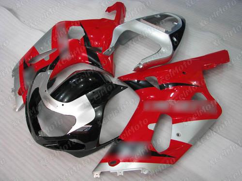 2001 to 2003 Suzuki GSX-R600, 2000 to 2003 Suzuki GSX-R750 red and black fairing