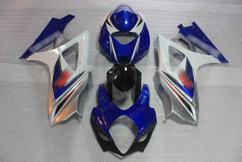 2007 2008 Suzuki GSXR1000 Gixxer blue and white fairing