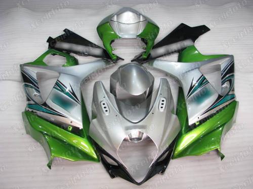 2007 2008 Suzuki GSXR1000 Gixxer silver and green fairing