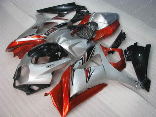 2007 2008 Suzuki GSXR1000 Gixxer silver and orange fairing