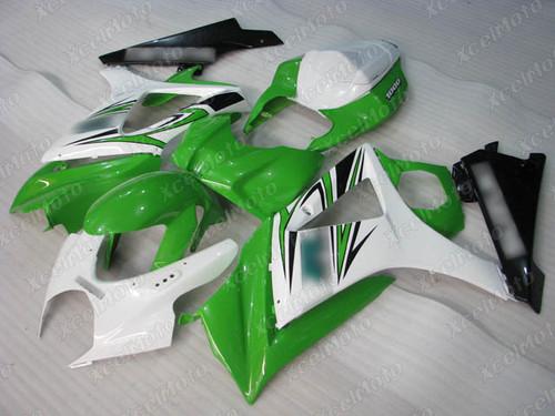 2007 2008 Suzuki GSXR1000 Gixxer white and green fairing