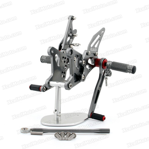 Motorcycle rear sets assembly for 2005 2006 Kawasaki ZX-6R Ninja are design to improve the ground clearance, crash worthiness and overall good looks of your bike.