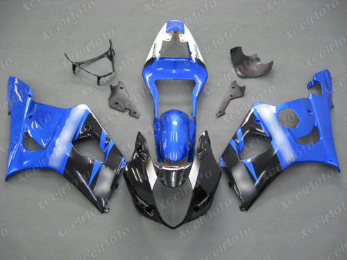2003 2004 SUZUKI GSXR1000 GIXXER K3 K4 black and blue fairing