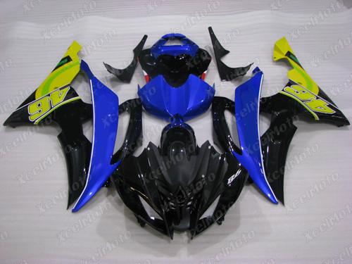 2008 2009 2010 to 2015 2016 Yamaha R6 black and blue fairing