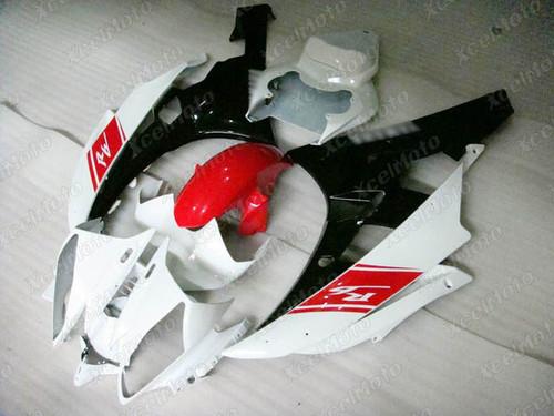 2006 2007 YAMAHA R6 white red and black fairing