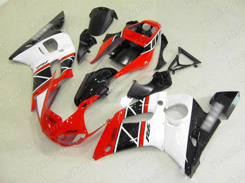 1999 2000 2001 2002 YAMAHA R6  50th anniversary fairing red white and black.