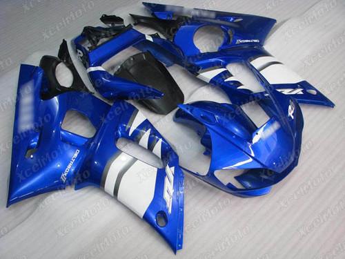1999 2000 2001 2002 YAMAHA R6 blue and white fairing