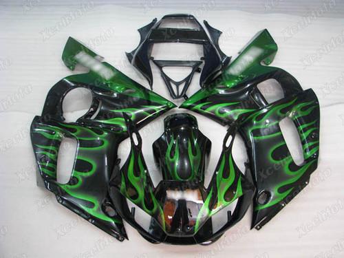 1999 2000 2001 2002 YAMAHA R6 green flame fairing