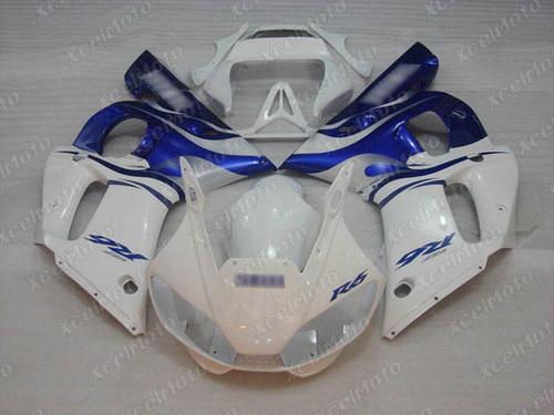 1999 2000 2001 2002 YAMAHA R6 white and blue fairing