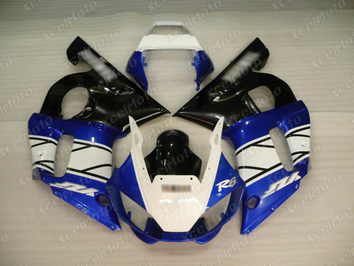 1999 2000 2001 2002 YAMAHA R6 white blue and black fairing