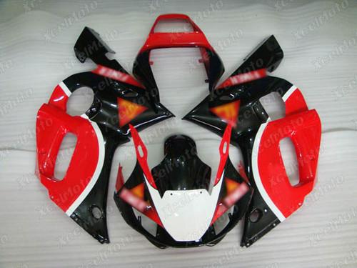 1999 2000 2001 2002 YAMAHA R6 red and black fairing