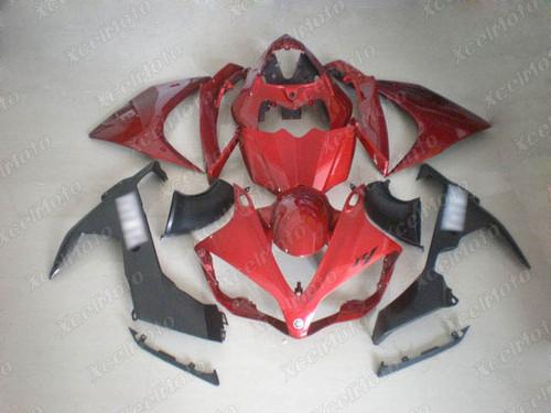 2007 2008 YAMAHA R1 red and black fairing