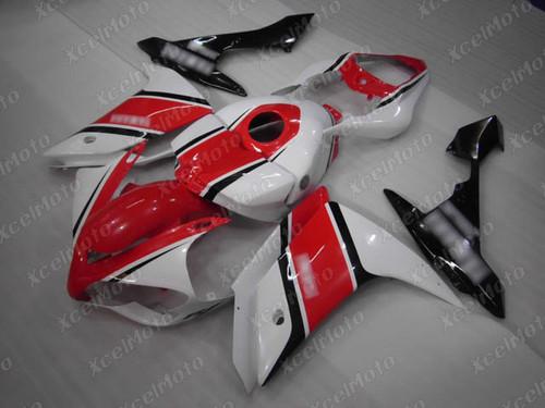 2007 2008 YAMAHA R1 red white and black fairing