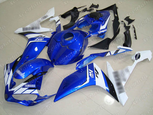 2007 2008 YAMAHA R1 blue and white fairing