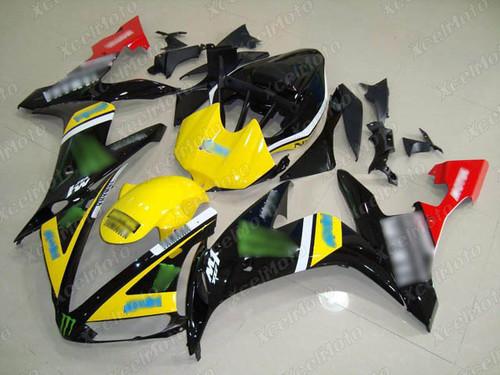 2004 2005 2006 YAMAHA R1 monster fairing yellow and black