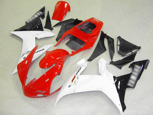 2002 2003 YAMAHA R1 red white and black fairing