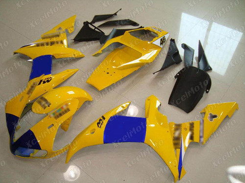 2002 2003 YAMAHA R1 yellow and blue fairing