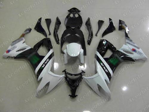 2008 2009 2010 Kawasaki Ninja ZX10R monster fairing white and black