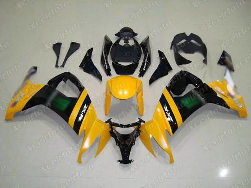 2008 2009 2010 Kawasaki Ninja ZX10R monster fairing in yellow and black