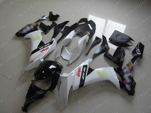2008 2009 2010 Kawasaki Ninja ZX10R custom fairing white and black