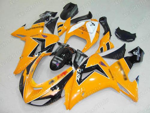 2006 2007 Kawasaki Ninja ZX10R yellow and black fairing