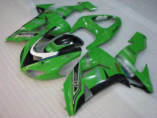 2006 2007 Kawasaki Ninja ZX10R green fairing