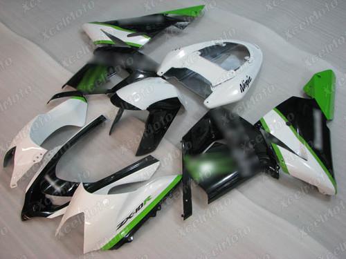 2004 2005 Kawasaki ZX10R white and black fairing kit
