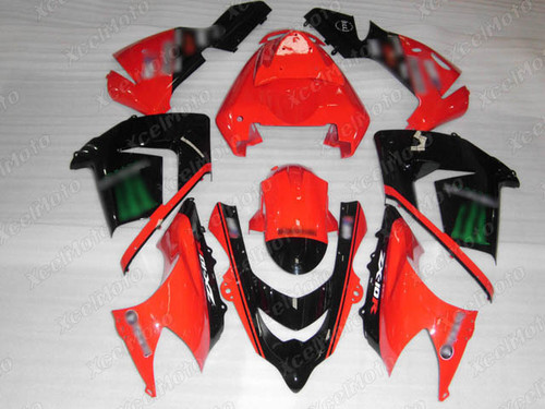 2004 2005 Kawasaki ZX10R monster fairing red and black scheme