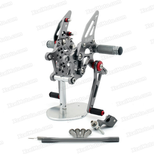 Motorcycle Rear Sets Assembly for 2009 2010 Aprilia RSV4, Aprilia RSV4 original rear sets replacement.