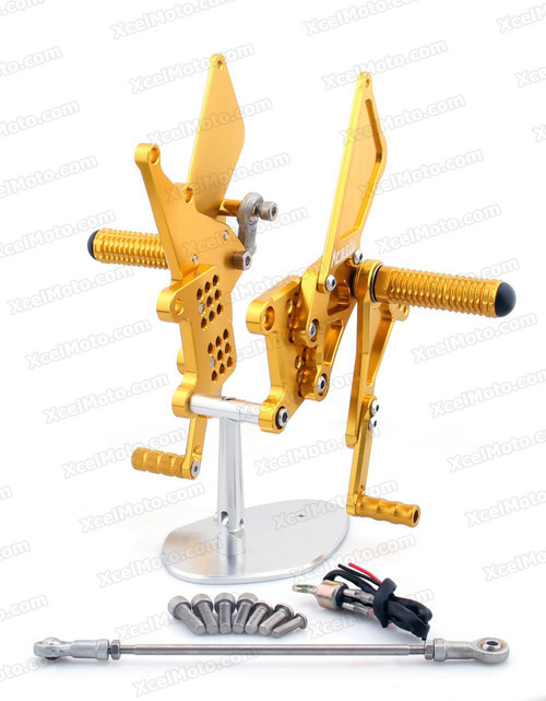 Motorcycle Rear Sets Assembly for 2006 to 2012 Triumph Daytona 675, Triumph Daytona 675 original rear sets replacement.