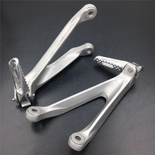 2008 to 2014 Honda CBR1000RR rear/passenger foot pegs and mount bracket assembly. Honda CBR1000RR foot rest and holder assembly.