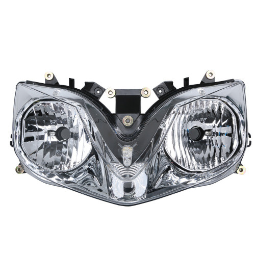 The motorcycle headlight/headlamp assembly kit for  2001 to 2006 Honda CBR600 F4i is a direct O.E.M. replacement and made to O.E.M. specification to fit and look just like the original.