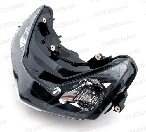 The motorcycle headlight/headlamp assembly kit for   2002 2003 Honda CBR954 is a direct O.E.M. replacement and made to O.E.M. specification to fit and look just like the original.