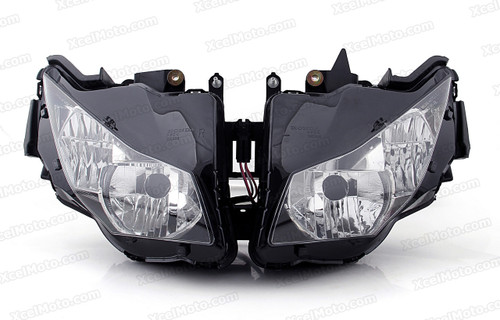 The motorcycle headlight/headlamp assembly kit for 2012 2013 2014 2015 Honda CBR1000RR is a direct O.E.M. replacement and made to O.E.M. specification to fit and look just like the original.