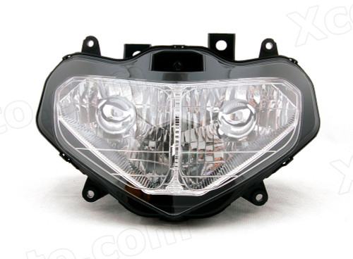 Motorcycle headlight/headlamp assembly kit for 2001 2002 Suzuki GSX-R 1000.