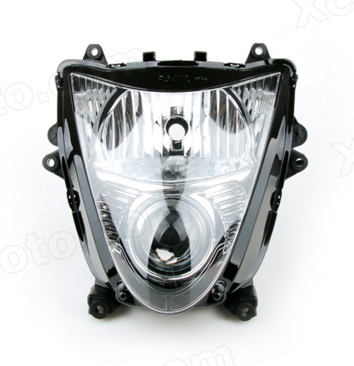 Motorcycle headlight/headlamp assembly kit for 2008 to 2018 Suzuki GSX-R 1300 Hayabusa.