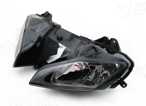Motorcycle headlight/headlamp assembly kit for 2008 to 2015 Yamaha YZF-R6.