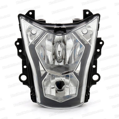 Motorcycle headlight/headlamp assembly kit for 2012 2013 2014 Kawasaki ER-6N.