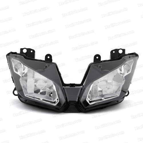 Motorcycle headlight/headlamp assembly kit for 2013 2014 Kawasaki Ninja 300.