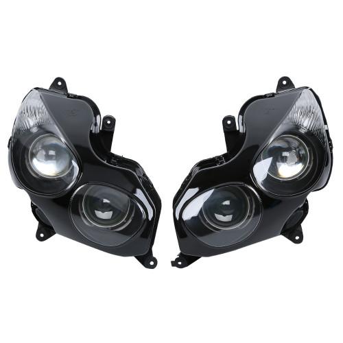 Motorcycle headlight/headlamp assembly kit for 2006 2007 2008 2009 2010 2011 Kawasaki Ninja ZX-14R/ZZR1400.