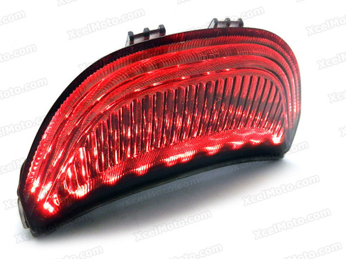 The LED turn signals integrated taillights assembly was compatible with 2004 2005 2006 2007 Honda CBR1000RR, this taillights combines   tail lights and turn signals into one unit and are more functional.