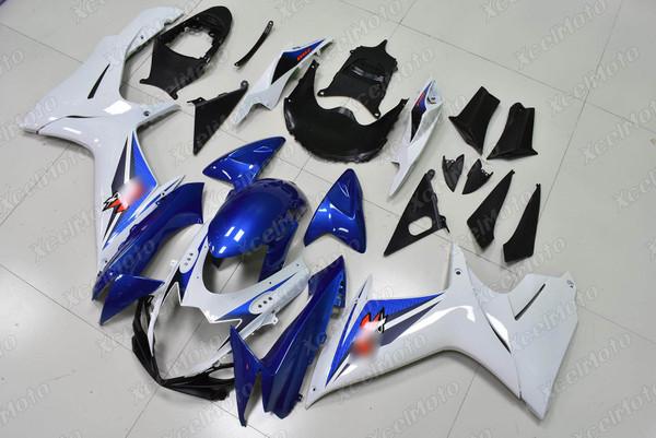 2011 to 2018 2019 2020 Suzuki GSXR 600/750 OEM fairing blue and white