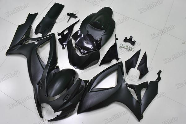2006 2007 Suzuki GSXR600/750 black fairings and body kits, Suzuki GSXR600/750 OEM replacement fairings and bodywork.
