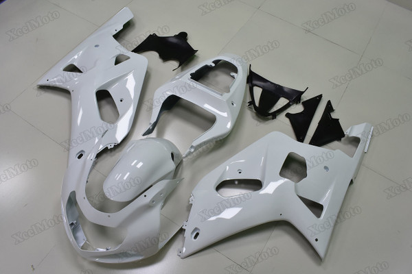 2001 2002 2003 Suzuki GSXR600/750 pearl white fairings and body kits, Suzuki GSXR600/750 OEM replacement fairings and bodywork.