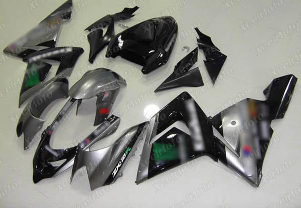 2004 2005 Kawasaki ZX10R grey and black fairing