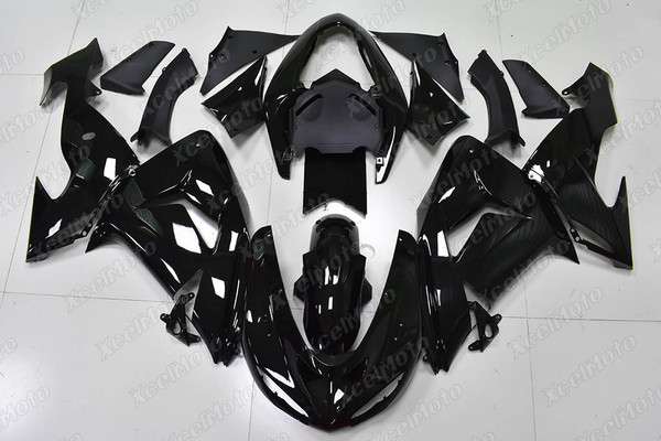 2004 2005 Kawasaki ZX10R gloss black fairing