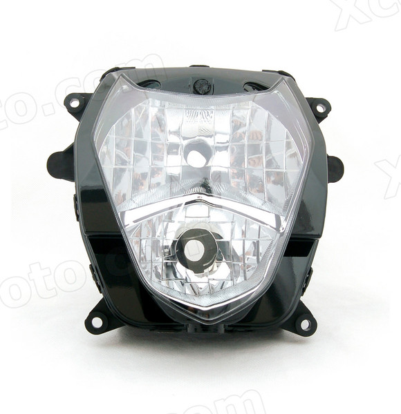 Motorcycle headlight/headlamp assembly kit for 2003 2004 Suzuki GSX-R 1000.